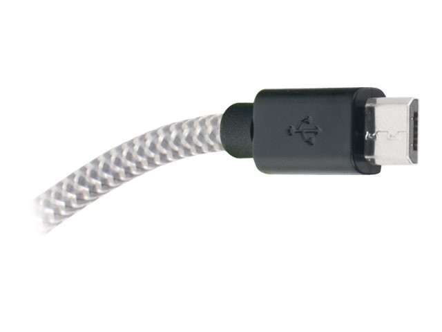 Mizco Tangle Free Micro USB Cable, 3ft, IE-FC-MICRO