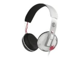 Skullcandy Grind Headphone w One-Button TapTech Functionality - White Black Red, S5GRHT-472, 23207830, Headsets (w/ microphone)