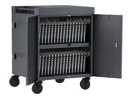 Bretford Manufacturing CUBE Charging Cart AC for up to 32 devices w Back Panel, TVC32PAC-CK, 33650501, Computer Carts