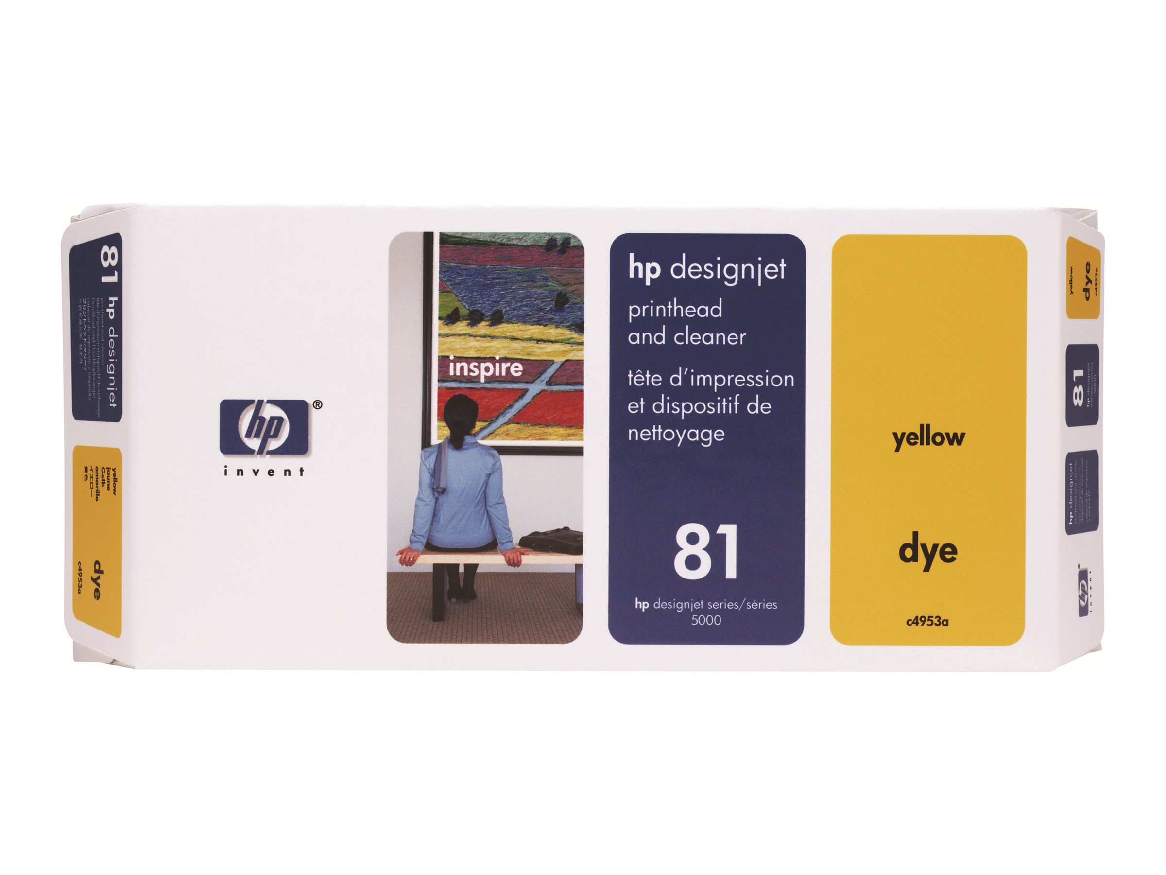 HP 81 Yellow Dye Printhead & Cleaner for HP Deskjet 5500, C4953A