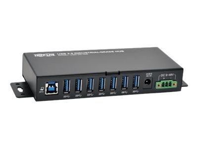 Tripp Lite Rugged Industrial 7-Port USB 3.0 SuperSpeed Hub w  15kV ESD Immunity, Metal Case, Mountable