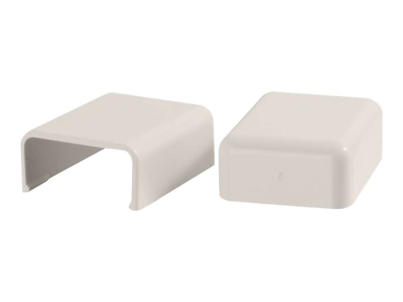 C2G Wiremold Uniduct 2800 Blank End Fitting, Fog White, 2-Pack