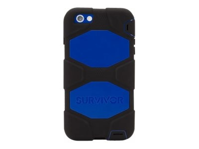 Griffin Survivor All-Terrain for iPhone 6 Plus, Black Blue, GB40545, 17701031, Carrying Cases - Phones/PDAs