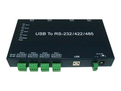 Quatech Industrial USB Serial Adapter, USB to 4 Port RS-232 422 485 Me, QSU2-540IS, 11125976, Adapters & Port Converters