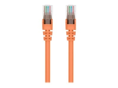 Belkin Cat6 UTP Patch Cable, Orange, Snagless, 3ft, A3L980-03-ORG-S
