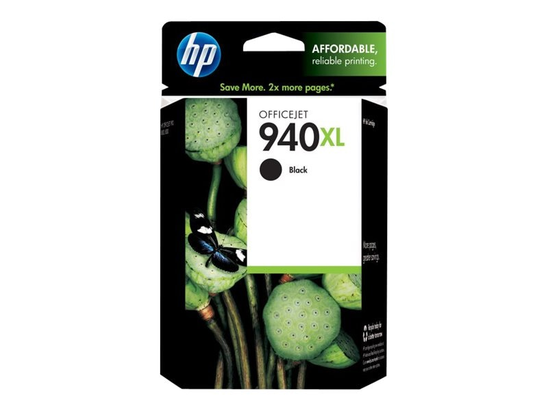 HP 940XL (C4906AN) High Yield Black Original Ink Cartridge, C4906AN#140