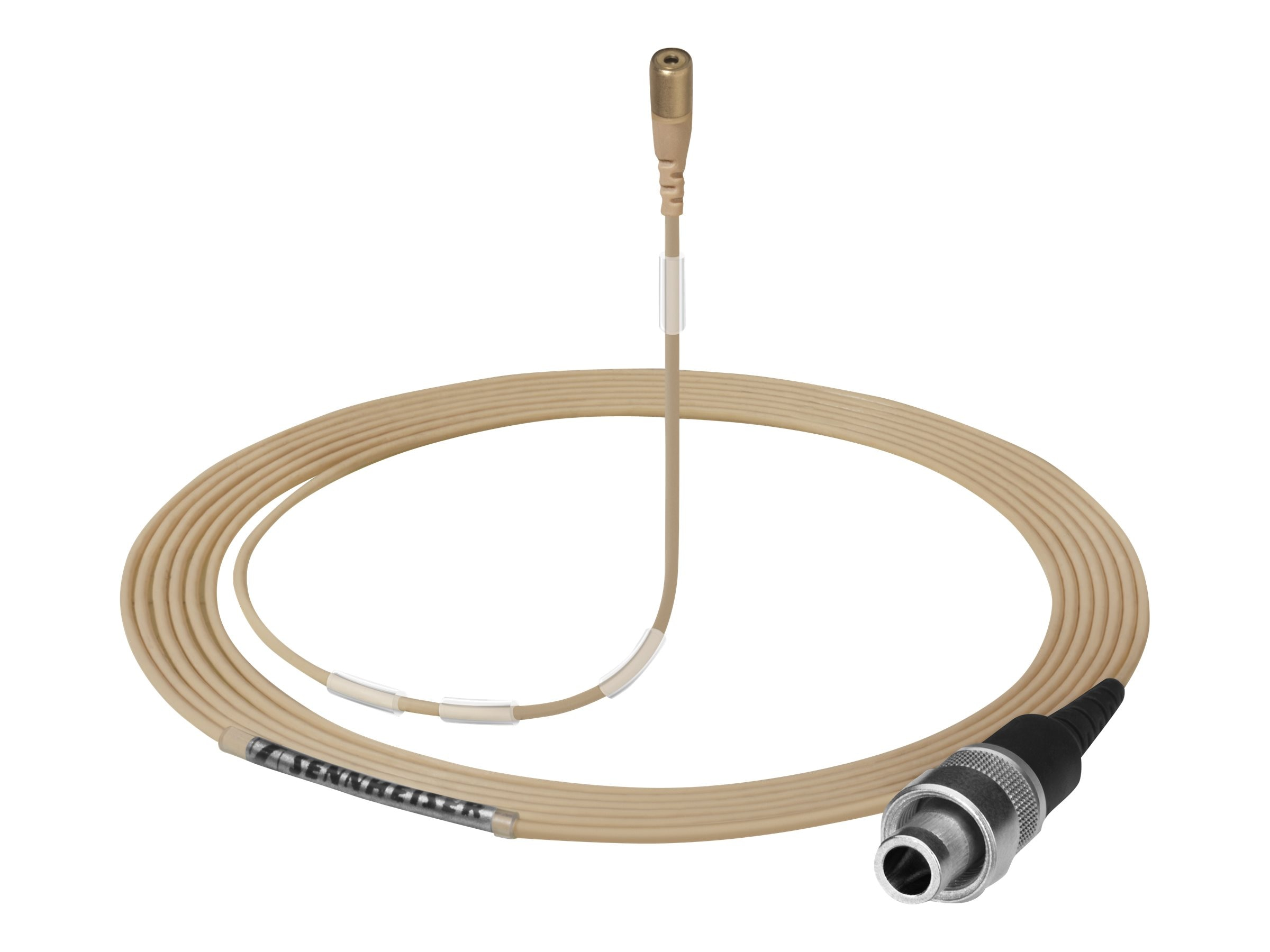 Sennheiser MKE 1-5-M Sound Pro Clip-On Microphone Open-ended Cable, 3m, Light Beige, Paintable