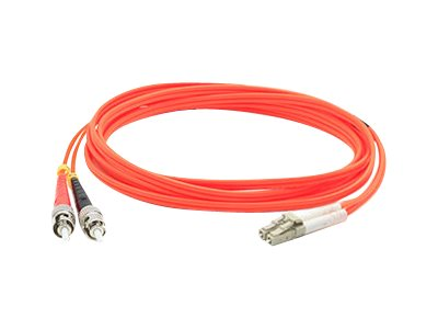 ACP-EP ST-LC 62.5 125 OM1 Multimode LSZH Duplex Fiber Cable, Orange, 4m, ADD-ST-LC-4M6MMF