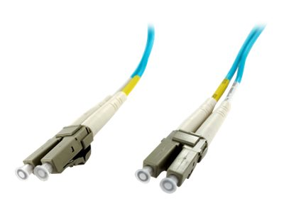 Axiom LC-LC 50 125 OM4 Multimode Fiber Cable, Aqua, 50m, TAA