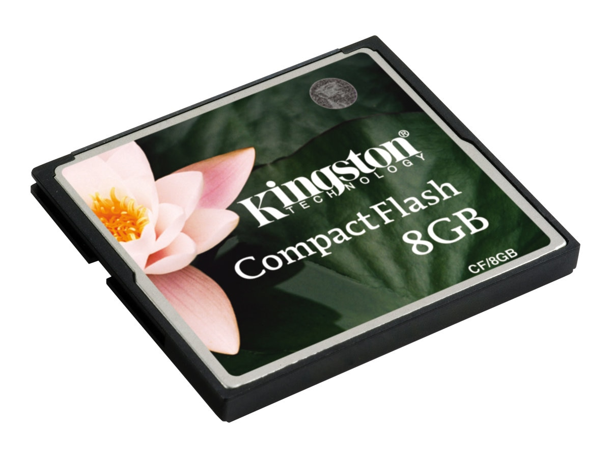 Kingston 8GB CompactFlash Memory Card for Select Models, CF/8GB