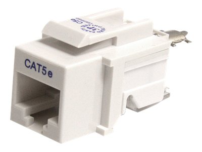 StarTech.com Tool-less Type Category 5 Keystone Jack White, KEYSTONE2WH