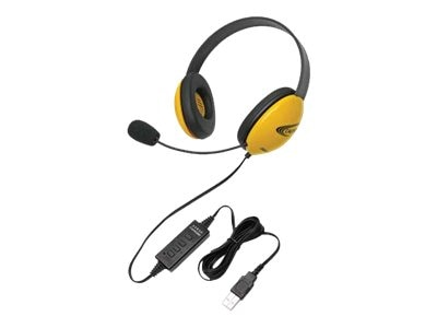 Califone Listening First Stereo Headset, 2800YL-USB, 31472511, Headphones