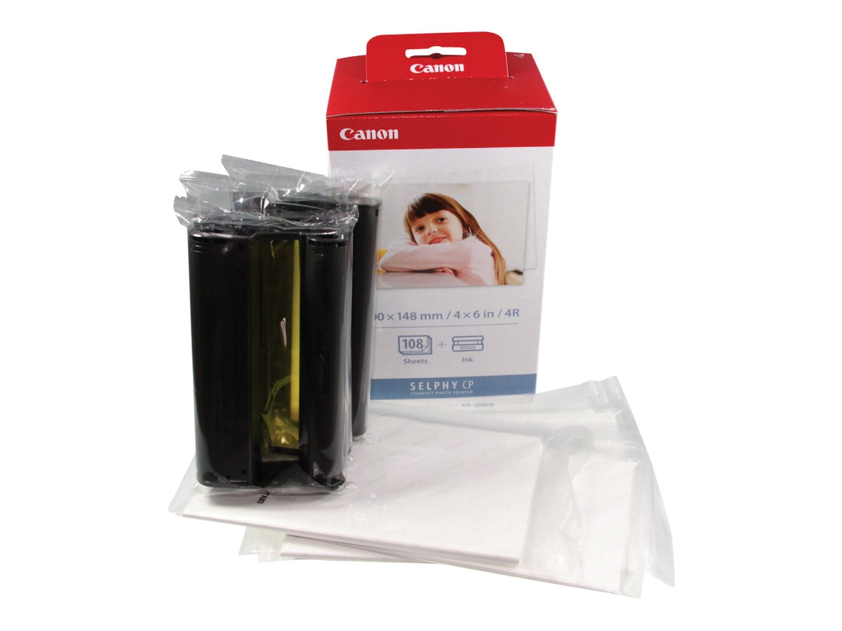 Canon KP-108IN Ink & Paper Set for CP Series, 3115B001