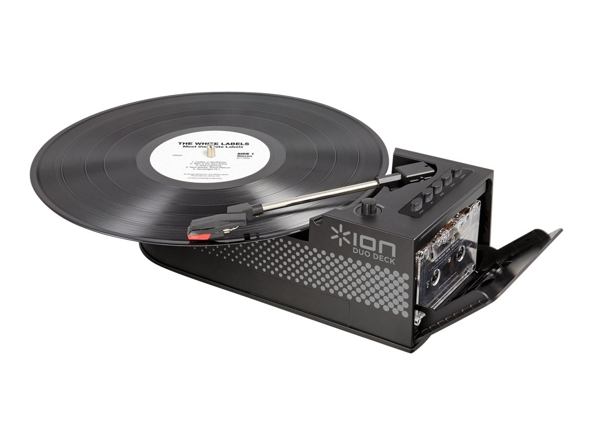 ION Audio IT34 USB Turntable w  Tape Player, IT34, 16852099, Music Hardware