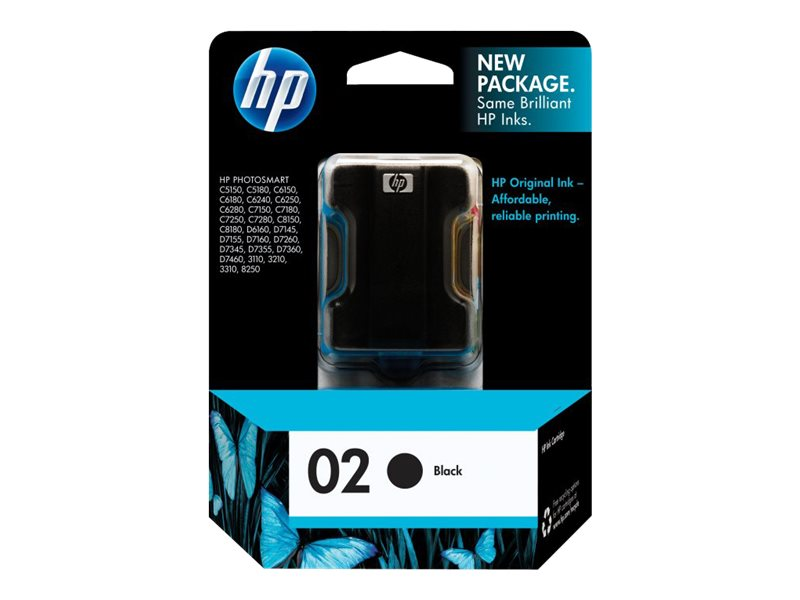 HP 2 (C8721WN) Black Original Ink Cartridge, C8721WN#140, 7887151, Ink Cartridges & Ink Refill Kits