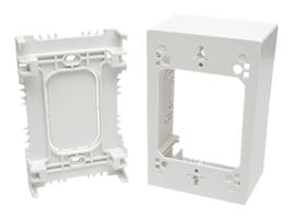 Tripp Lite Single-Gang Surface-Mount Junction Box, White, N080-SMB1-WH, 32467001, Premise Wiring Equipment