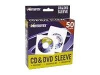 Memorex White CD DVD Sleeves (50-pack), 32021960, 273090, Media Storage Cases