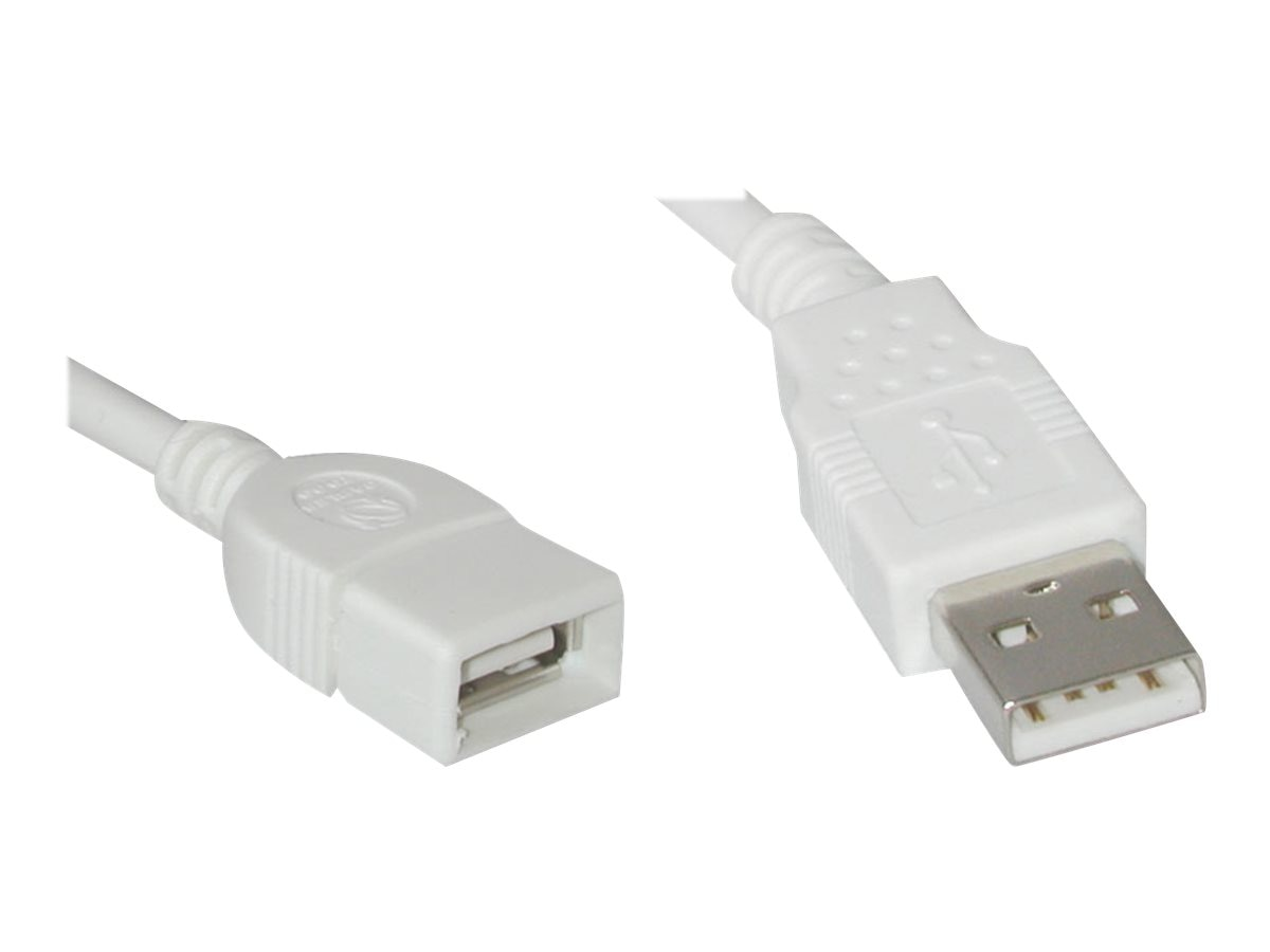 C2G USB A A Extension Cable, 2m, White, 19018, 7181537, Cables