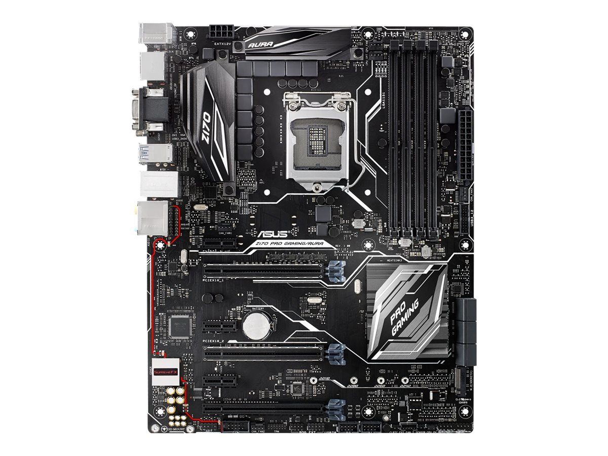 Asus Motherboard, Z170 Pro Gaming Aura Core i7 i5 i3 Family Max.64GB DDR4 6xSATA 6xPCIe GbE