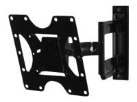 Peerless Articulating Arm Wall Mount for 22-40 Flat Panels up to 80 lbs, Black