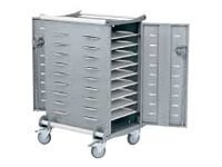 Ergotron 20 Unit Laptop Storage Cart, made with Anthro DNA, LTSC20WH/SM, 328426, Computer Carts