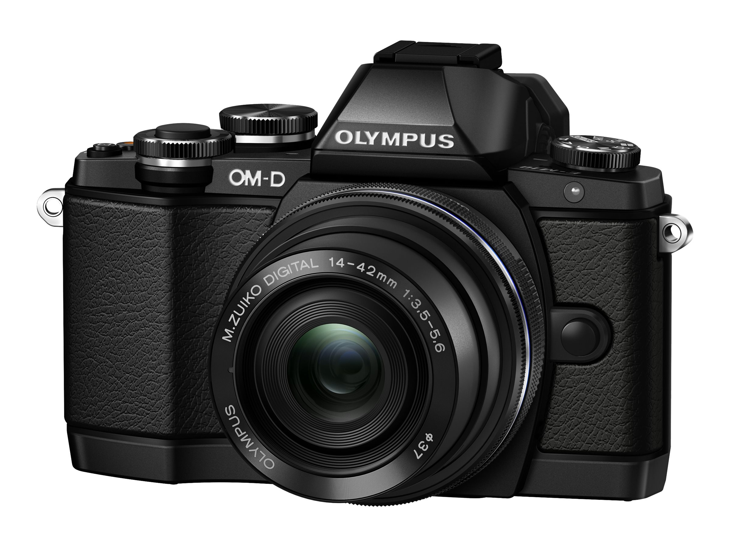 Olympus Mirrorless Micro Four Thirds Digital Camera, Black with 14-42mm Lens, V207021BU000, 16793279, Cameras - Digital - Point & Shoot