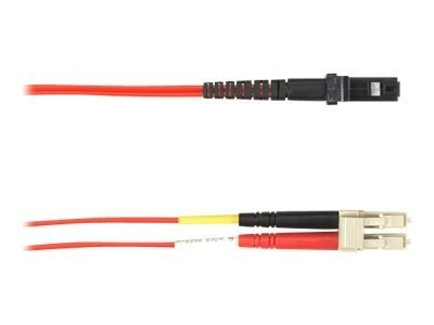 Black Box LC-MTRJ 50 125 OM2 Multimode PVC Fiber Cable, Red, 3m
