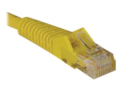 Tripp Lite Cat5e RJ-45 M M Snagless Molded Patch Cable, Yellow, 5ft, N001-005-YW, 11518622, Cables