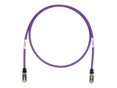 Panduit Cat6a SFTP Copper Patch Cable, Violet, 2ft, STP6X2VL, 24171613, Cables