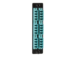 Black Box High-Density Adapter Panel w Ceramic Sleeves, 12xLC Duplex Pairs (Aqua), JPM468C, 32328609, Patch Panels