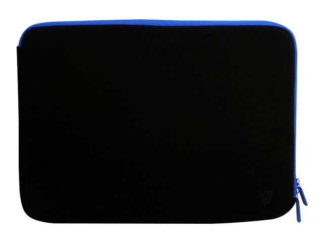 V7 Elite Neoprene Lycra Sleeve for 14 Notebook, Black Blue, CSE6-BLU-9N