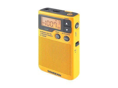 Sangean AM FM Digital Weather Alert Pocket Radio, DT-400W, 8870932, Environmental Monitoring - Outdoor
