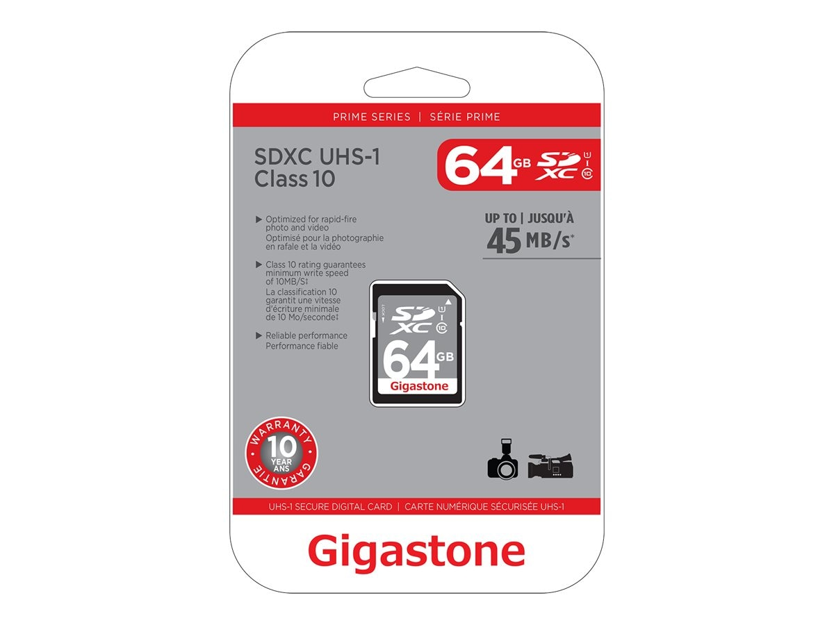 Dane Electronics 64GB SDXC UHS-1 Flash Memory Card, Class 10, GS-SDXCU164G-R