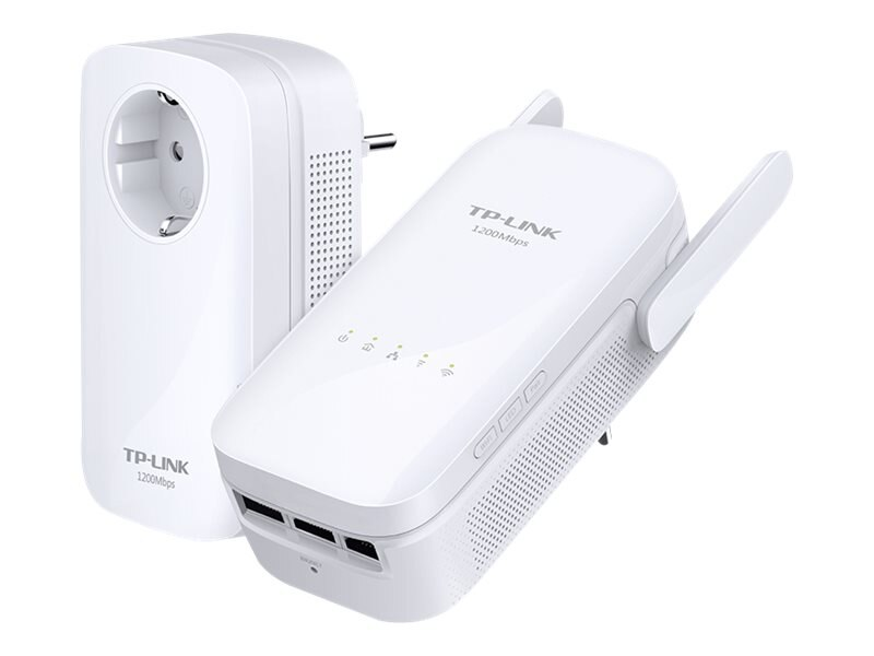 TP-LINK AV1200 POWERLINE, AC1200 WIRELESS RANGE EXTENDER -- POWERLINE EDITION, TL-WPA8630 KIT