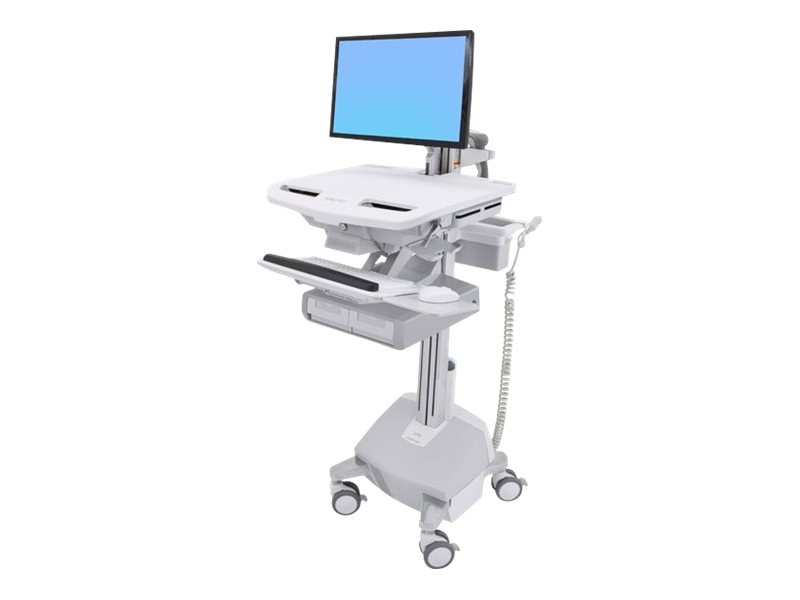 Ergotron StyleView Cart with LCD Arm, LiFe Powered, 2 Drawers, SV44-12A2-1, 31498260, Computer Carts - Medical