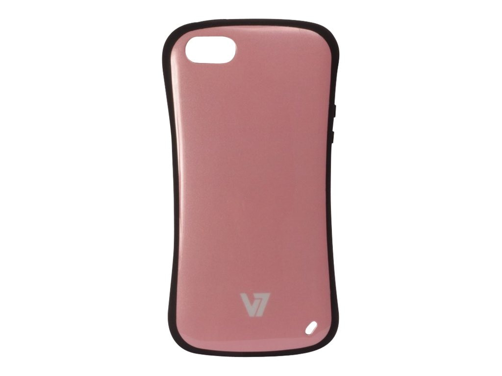 V7 Slim Survivor Bumper Hard Shell Protective PC PU Cover Case for iPhone 5, Pink, PA19SPNK-2N