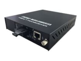 CP Technologies LevelOne 10 100 1000 BASE T to 1000X Media Converter, GVM-1220, 31070554, Network Transceivers