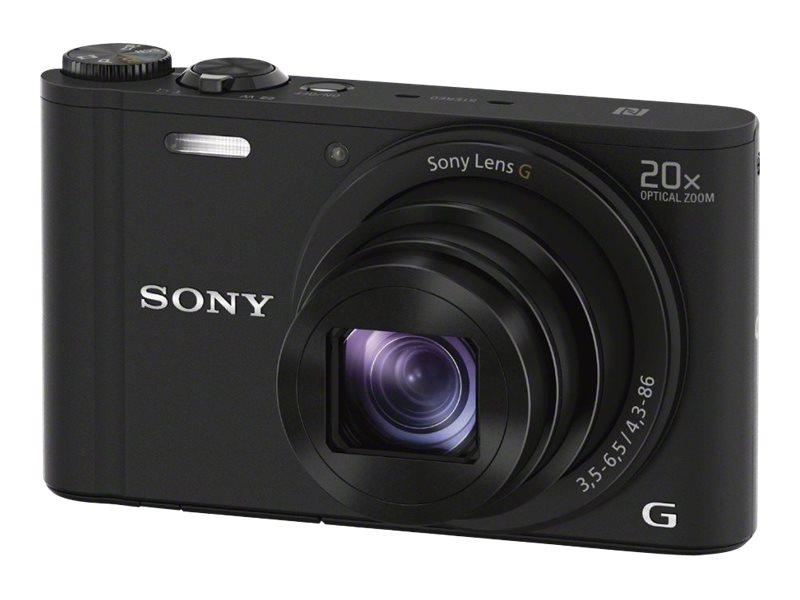 Sony Cyber-shot DSC-WX350 Digital Camera, 20x Zoom, 18.2MP, Black, DSCWX350/B, 17793289, Cameras - Digital - Point & Shoot
