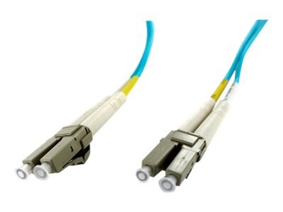 Axiom LC-LC 50 125 OM4 Multimode Duplex Cable, 3m, LCLCOM4MD3M-AX, 17575871, Cables