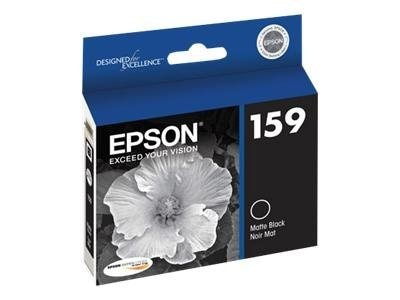 Epson Matte Black 159 Ultrachrome Hi-Gloss 2 Ink Cartridge, T159820, 12838855, Ink Cartridges & Ink Refill Kits