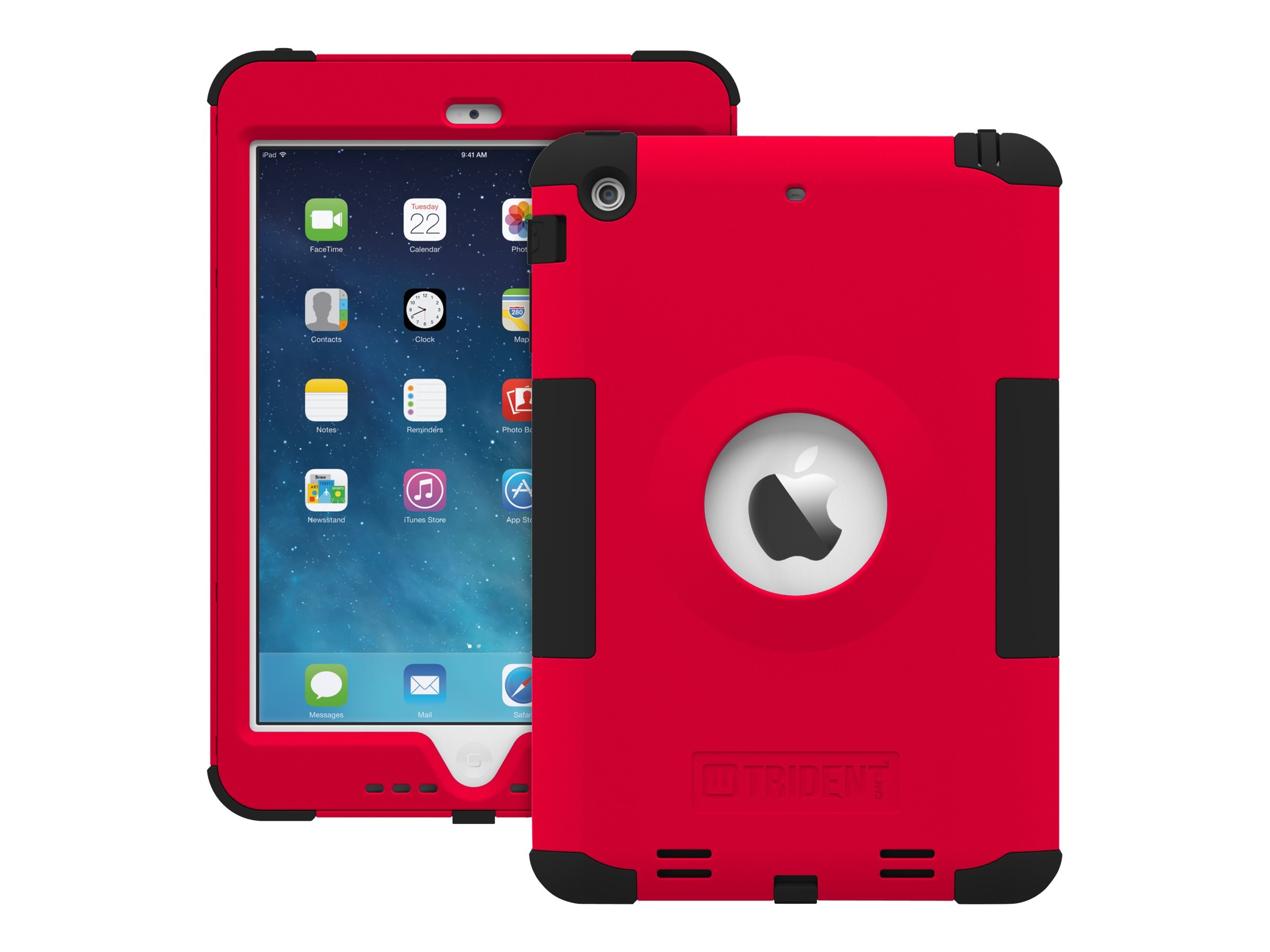 Trident Case Kraken AMS Case for Apple iPad mini w  Retina Display, Red, AMSAPLIPADMINI2USRED, 16813882, Carrying Cases - Tablets & eReaders