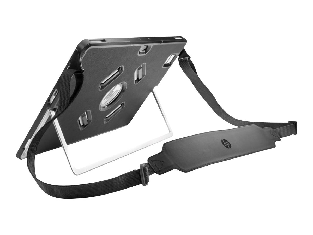 HP Elite x2 1012 Protective Case w  Hand Strap, Shoulder Strap, Black