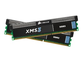 Corsair 8GB PC3-10600 240-pin DDR3 SDRAM DIMM Kit, CMX8GX3M2A1333C9, 11694781, Memory