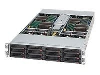 Supermicro 2U Rackmount Chassis,4X Motherboard Modules Support, All Twin Motherboards, CSE-827T-R1200B, 9626595, Cases - Systems/Servers