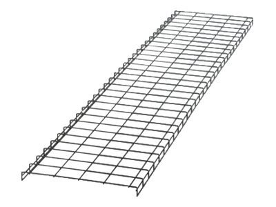 Panduit 24W x 10ft Horizontal Cable Pathway Section, Black Powder Coat