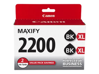 Canon Black PGI-2200XL Ink Cartridges (Twin Pack), 9255B006