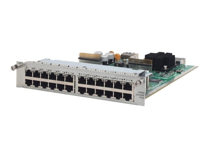 HPE MSR 24-port Gig-T PoE Switch HMIM Module, JG427A, 17439474, Network Device Modules & Accessories