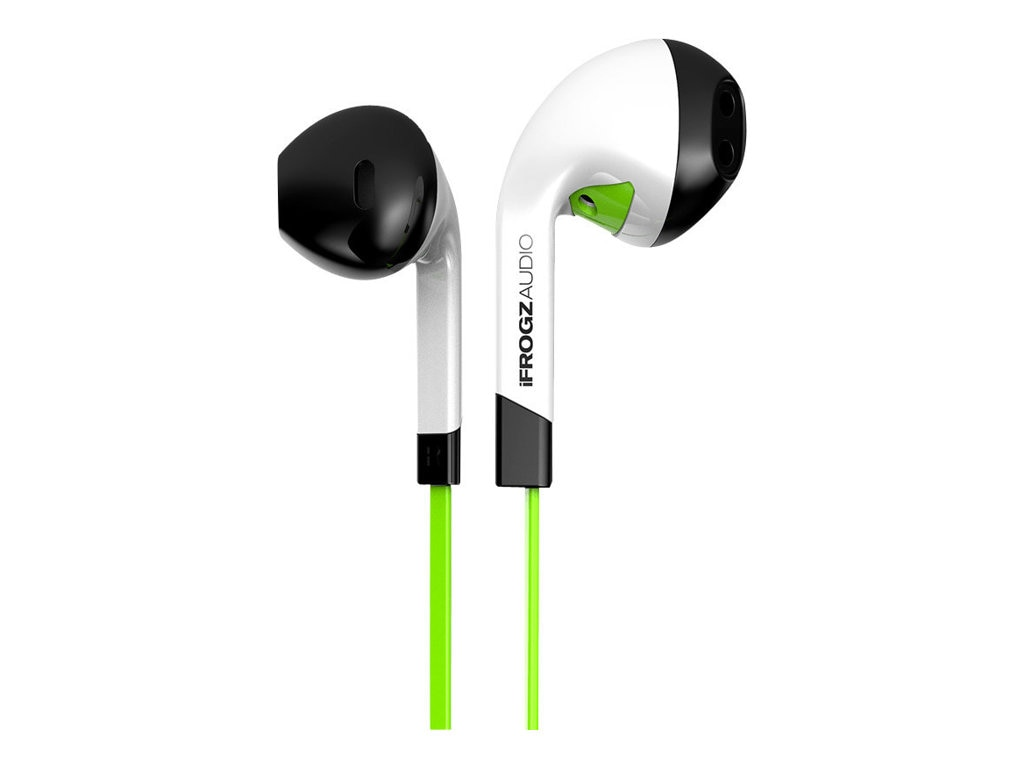 Ifrogz Intone Earbud w  Mic  - Green, IF-ITN-GRN, 16723553, Headsets (w/ microphone)