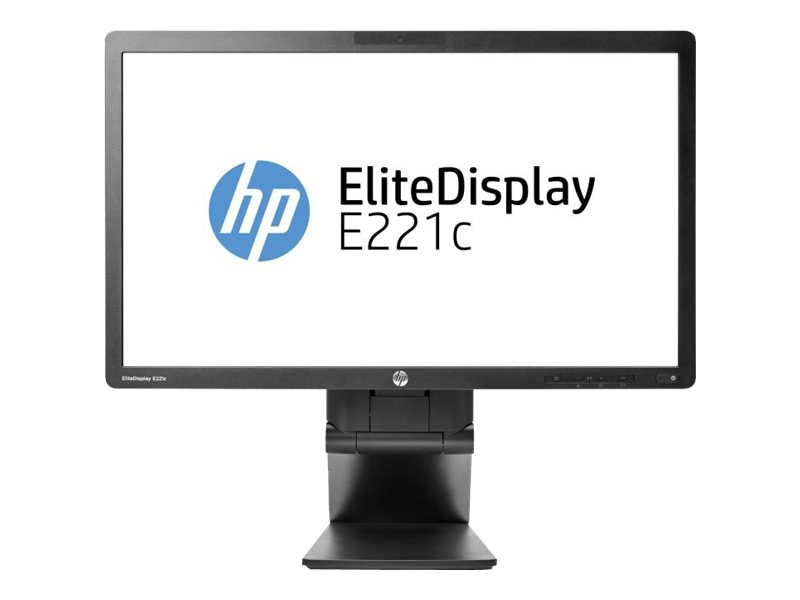 HP Smart Buy 21.5 E221c Full HD LED-LCD Monitor with Webcam, Black, D9E49A8#ABA