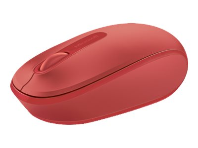 Microsoft Wireless Mobile Mouse 1850 Win 7 8, Red, U7Z-00031
